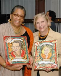 Nathalie Dupree, shown on right with Jessica Harris, received the Southern Foodways Alliance Lifetime Award.