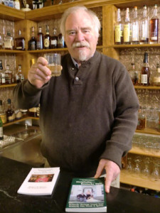 Colonel Michael Martin offers a toast to guests at his Kentucky Bourbon House in Bardstown