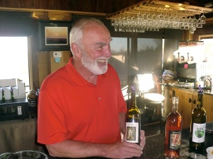 Jim Penner, owner of Cottage Winery, enjoys sharing his wines and delightful stories.