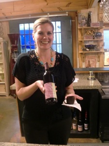 Emily Defoor manages Habersham Winery where delicious Chambourcin is served in chocolate cups.
