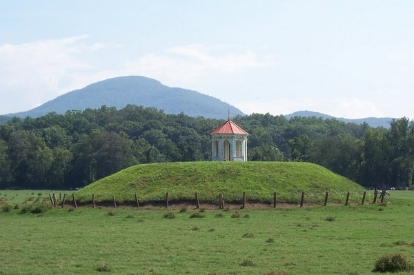 The hauntingly beautiful Indian mound welcomes visitors to Georgia's wine country