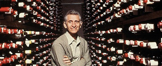 Bern's Steak House founder Bern Laxer in his legendary wine cellar