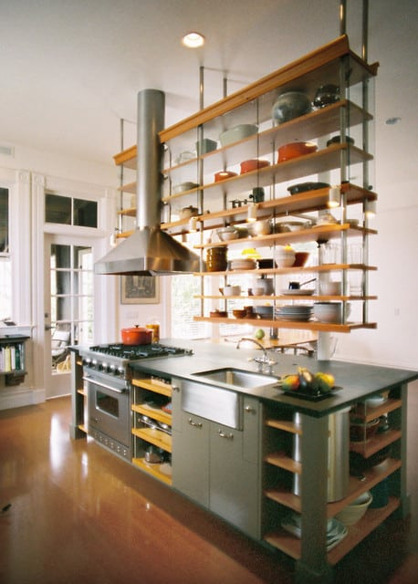 Captivating Hanging Shelves Attached To The Ceiling