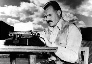 Hemingway loved food and wine, often writing about them